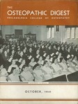 Osteopathic Digest (October 1941) by Philadelphia College of Osteopathy
