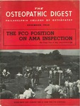 Osteopathic Digest (December 1954) by Philadelphia College of Osteopathy