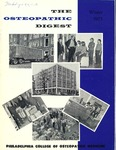 Osteopathic Digest (Winter 1973) by Philadelphia College of Osteopathic Medicine