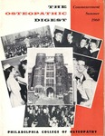Osteopathic Digest (Summer 1960) by Philadelphia College of Osteopathy