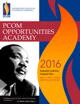 PCOM Opportunities Academy 2016 Graduation Ceremony Program by PCOM Office of Diversity and Compliance