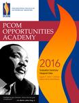PCOM Opportunities Academy 2016 Graduation Ceremony Program