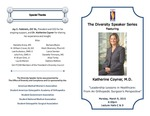 Diversity Speakers Series: Leadership Lessons in Healthcare: From An Orthopedic Surgeon's Perspective