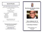Diversity Speakers Series: Leadership in Medicine