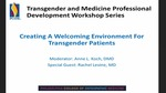 Creating a Welcoming Environment for Transgender Patients