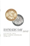 Program Cover from PCOM Founders' Day 2012
