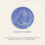 1976 Founders Day by Philadelphia College of Osteopathic Medicine