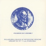 1977 Founders Day by Philadelphia College of Osteopathic Medicine