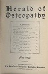 Herald of Osteopathy, May 1925