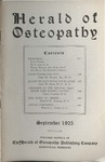 Herald of Osteopathy, September  1925