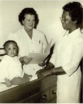 Eleanor V. Masterson, DO. (1957) Director of Clinics and Chief Nurse Mrs. Rosalie Clark, RN, 1974